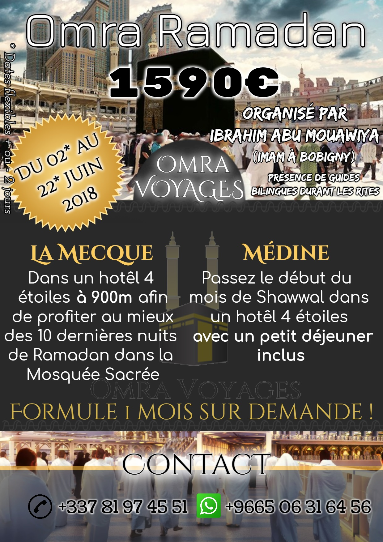 OMRA RAMADAN 2018 - OFFRE EXEPTIONNELLE !